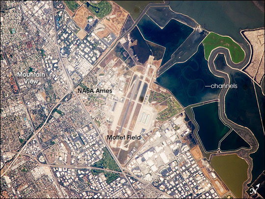 aerial view of nasa ames research center - photo #25