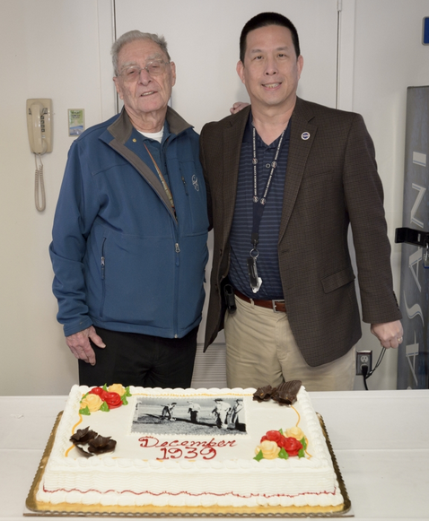 Photograph of Jack Boyd and ARC center director Eugene Tu